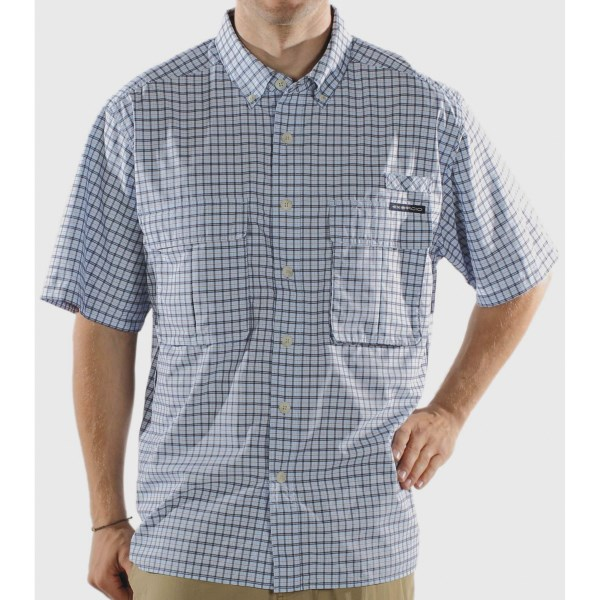 ExOfficio Air Strip Micro Plaid Short-Sleeve Shirt