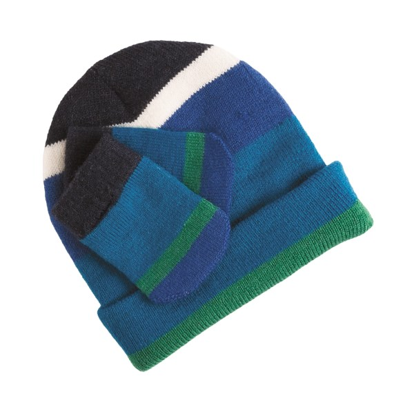 photo: Smartwool Striped Hat and Mitten Set