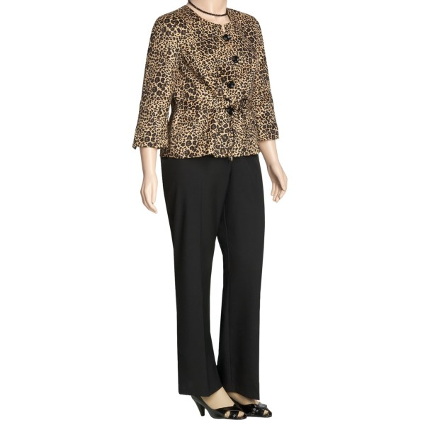 Isabella Animal Print Pant Suit - Plus Size (For Women)