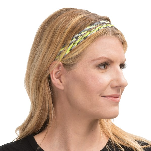CLOSEOUTS . A soft, stretchy, stay-put option for keeping wayward hairs in place, prAna's double headband saves the day for the everyday superheroine with a taste for casual fashion. Available Colors: BURNT ORANGE, ORCHID, DARK TEAL, TURQUOISE, CRIMSON, CITRON, VIOLET, BURNT ORANGE PAISLEY, CITRON CONGO BEATS, BURNT ORANGE CONGO BEATS, TURQUOISE CONGO BEATS, CITRON PAISLEY, TURQUOISE PAISLEY, BLACK POP, SAGE GEO, SAGE CHEETAH, ESPRESSO CHEETAH, ORCHID CONGO BEATS, BLACKBERRY POP, AGAVE, AMETHYST, PUMPKIN, WINTER, WATERFALL, AGAVE APPALOOSA, AMETHYST APPALOOSA, GRAVEL CASBAH, MYSTIC CASBAH, OPAL APPALOOSA, PICANTE CASBAH, PUMPKIN APPALOOSA, CHARCOAL HEATHER, INK BLUE, PLUM RED, AMETHYST TILE, BLACK LAGOON, BLACK TILE, BOYSENBERRY, FIRE RED, SAIL BLUE, ESPRESSO, DRAGONFLY, PINKBERRY, BLACK SIERRA, DRAGONFLY SIERRA, PINKBERRY SIERRA, BLUE JAY, COOL GREEN, NEON ORANGE, COAL.