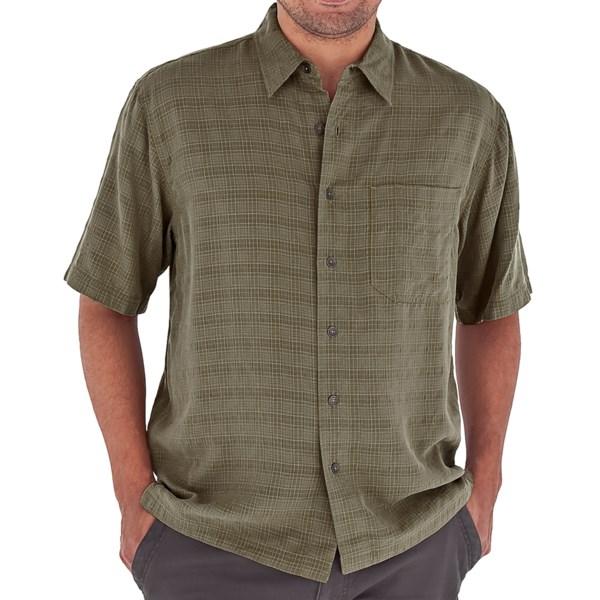 Royal Robbins San Juan Shirt   UPF 20  Short Sleeve (For Men)   LIGHT OLIVE (S )