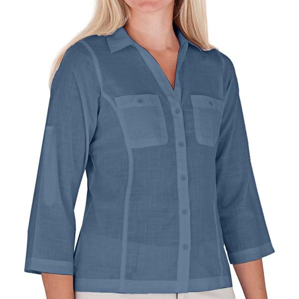 Royal Robbins Convertible Camp Shirt - Roll-Up 3/4 Sleeve (For Women)