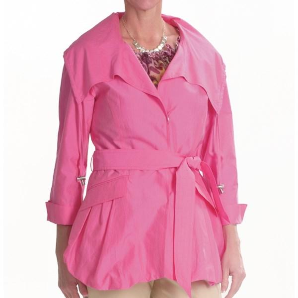 Lafayette 148 New York Archer Ocean Drive Coat - Cotton-Silk, 3/4 Sleeve (For Women)