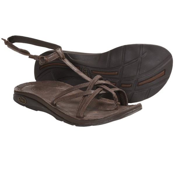 c27c4376b43a Chaco Native Ecotread Sandals Leather (For Women) CHOCOLATE BROWN (6 ...