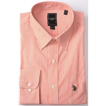 Lux-ID 202117  U.S. Polo Assn. Stripe Dress Shirt - Point Collar, Long Sleeve (For Men)