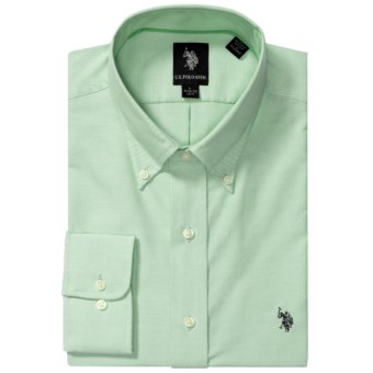 Lux-ID 202146  U.S. Polo Assn. Solid Oxford Dress Shirt - Long Sleeve (For Men)
