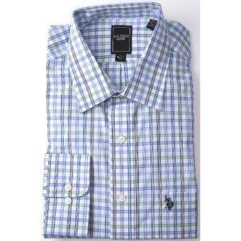 Lux-ID 202171  U.S. Polo Assn. Check Dress Shirt - Long Sleeve (For Men)