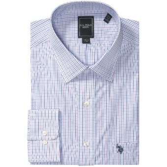 Lux-ID 202103  U.S. Polo Assn. Check Dress Shirt - Spread Collar, Long Sleeve (For Men)