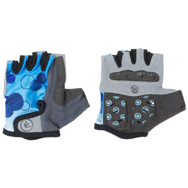 CLOSEOUTS . Prepare to break out the bubbly after riding to victory in Canari's Champagne cycling gloves. Shock-absorbing, perforated palm pads reduce vibration, and textured mesh between the fingers promote airflow. Available Colors: ROSE, MORNING SKY, FIJI BLUE, COTTON CANDY. Sizes: S, M, L, XL.