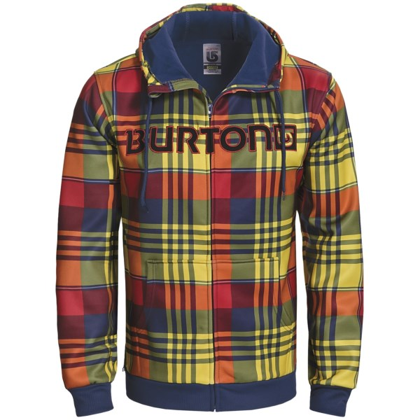 CLOSEOUTS . Hit the slopes, city streets or skate park in Burton's Bonded hooded sweatshirt, a breathable, quick-drying and warm hoodie that layers like a champ. Available Colors: IRON GREY/ VANDYKE PLAID, TEAM BLUE/IRON GREY/VANDYKE PLAID, HEATHER GREY, IRON GREY/HANDLEBAR PLAID, TEAM BLUE/VANDYKE PLAID, TEAM BLUE, TB/IRON GRY/VANDYKE. Sizes: S, M, L, XL.