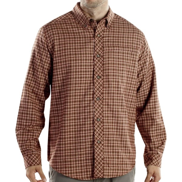 ExOfficio Trailing Off Micro Plaid Long-Sleeve Shirt