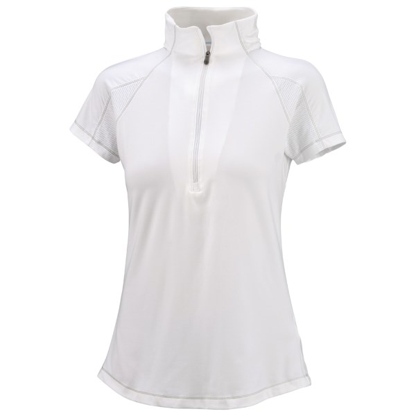 photo: Columbia Anytime Short Sleeve Zip Top