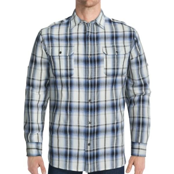 Dakota Grizzly Hogan Cotton Jacquard Shirt - Long Roll-Up Sleeve (For Men)