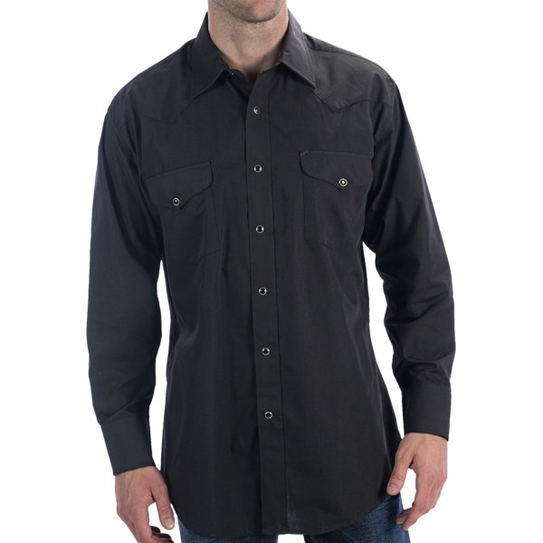 Panhandle Slim Solid Snap Shirt - Long Sleeve (For Men)