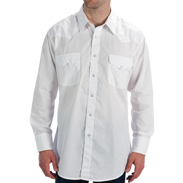 Panhandle Slim Solid Snap Shirt - Long Sleeve (For Men)