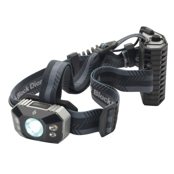 CLOSEOUTS . Lightweight and compact, the Black Diamond Equipment Icon LED headlamp boasts powerful 200 lumens to light up the night. A single button scrolls through seven different modes, and is water and cold resistant. Available Colors: LIME, SILVER, ALUMINUM.