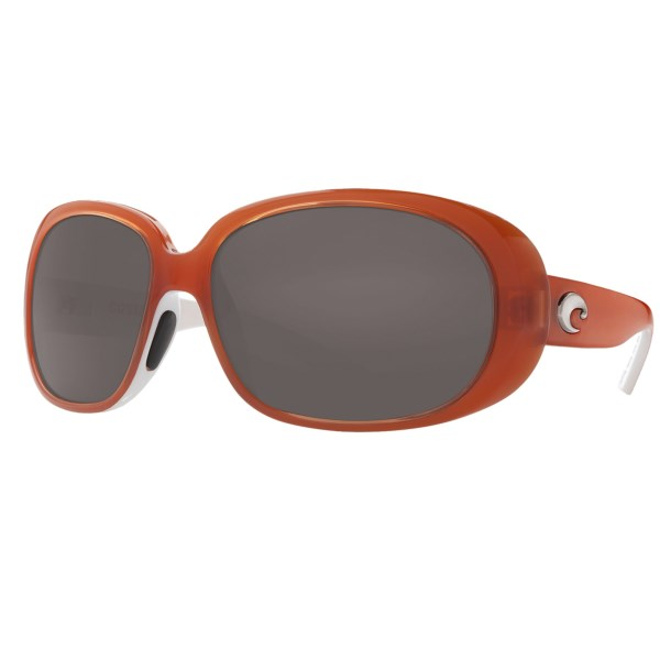 CLOSEOUTS . Enjoy an afternoon snooze without fear of flashing paparazzi bulbs waking you in Costa's Hammock sunglasses. The polarized CR-39and#174; lenses offer exceptional resolution in an optically correct, lightweight and scratch-resistant composite material. Available Colors: TORTOISE/AMBER 400P, TORTOISE/GREY 400P, BLACK/AMBER 400P, SALMON WHITE/GREY 400P, BLACK/GREY 400P, SALMON WHITE/AMBER 400P, TORTOISE/DARK AMBER 400P, BLACK/DARK GREY 400P.