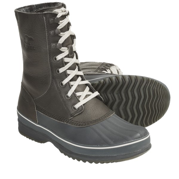 CLOSEOUTS . A stylish alternative to bulky winter boots, Sorel's Kitchner Frost boots have a sporty-casual appeal and keep out the elements, too. Available Colors: CURRY/TURKISH COFFEE, BOULDER, JAVA. Sizes: 7, 8, 8.5, 9, 9.5, 10, 10.5, 11, 11.5, 12, 13, 14, 7.5, 15.
