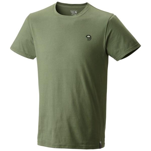 Mountain Hardwear MHW Logo T Shirt   Cotton  Short Sleeve (For Men)   BLACK (L )