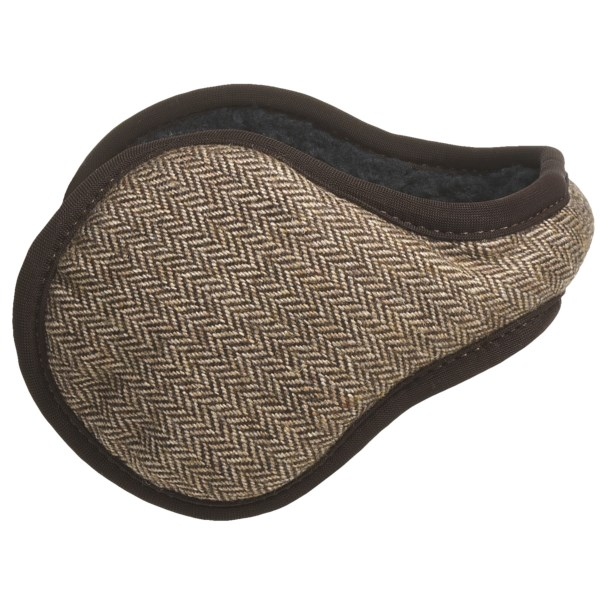 180s Admiral Herringbone Ear Warmers - Wool Blend (For Men)