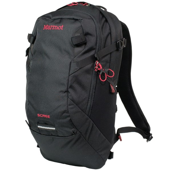 CLOSEOUTS . A daypack that thinks it's a backcountry pack, Marmot's Scree 22 backpack is super durable, has a breathable suspension system, and it even has lash points for your gear, too! Available Colors: AMAZON/LIME, BRICK/TEAM RED, BLACK, GREEN LICHEN.