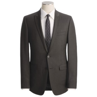 Lux-ID 202457  Calvin Klein Sharkskin Suit - Slim Fit, Wool (For Men)