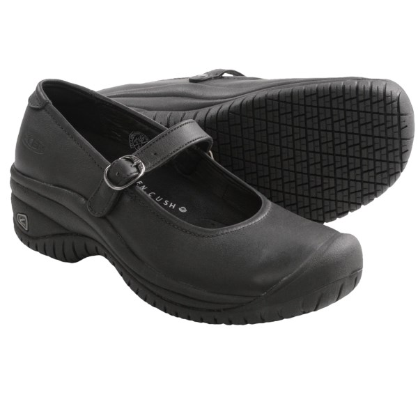 CLOSEOUTS . Get the job done in style with Keen's PTC Mary Jane II shoe; it's made to withstand the rigors of a long day on your feet and features a durable, cushioned design that holds up from hospital night shift to lunch hour at the cafe. Available Colors: BLUE NIGHTS, ONION, WHITE, BLACK. Sizes: 5, 5.5, 6, 6.5, 7, 7.5, 8, 8.5, 9, 9.5, 10, 10.5, 11.