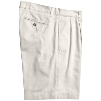 Lux-ID 202501  Vintage 1946 Cotton Twill Shorts - Pleated (For Men)