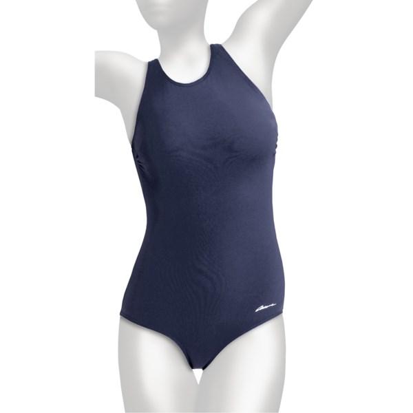 Dolfin Ocean Aquashape Lap Swimsuit - Clap Back, UPF 50  (For Women)