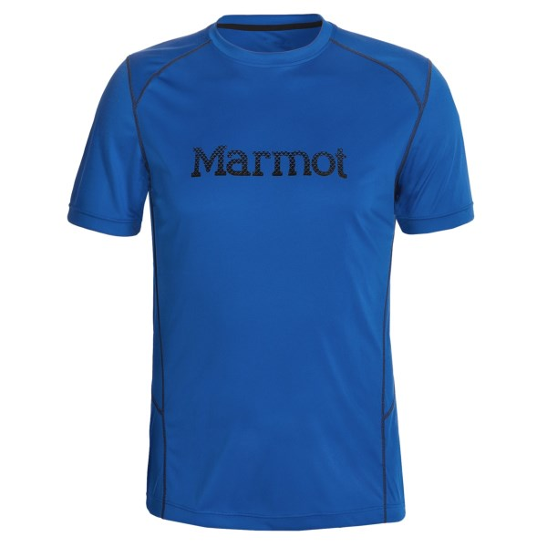 CLOSEOUTS . A light-as-air performance shirt, Marmot's Windridge Graphic T-shirt stays at the top of its class with UPF 50 and quick-drying, moisture-wicking fabric. Available Colors: GRAPHIC WHITE/ROCKET RED, GRAPHIC COBALT BLUE/SULPHUR, GRAPHIC WHITE/GARGOYLE, GRAPHIC BLACK/GARGOYLE, GRAPHIC SLATE GREY/GREEN LIME, GRAPHIC GREEN LIME/SLATE GREY, GRAPHIC WHITE/SLATE GREY, GRAPHIC TEAM RED/SLATE GREY, GRAPHIC COBALT BLUE/SLATE GREY, GRAPHIC TRUE WHITE, GRAPHIC TRUE BLACK, SLATE GREY/YELLOW/BLUE, GRAPHIC TRUE COBALT BLUE, GRAPHIC TEAM RED, GRAPHIC TEAM RED/GRANITE, GRAPHIC COBALT BLUE/GRANITE, GRAPHIC SLATE GREY/BLACK, GRAPHIC WHITE/GRANITE, GRAPHIC PEAK BLUE, GRAPHIC GREEN LICHEN, GRAPHIC WHITE/GREY/ORANGE, GRAPHIC COBALT BLUE, 23, 1440 GRAPHIC SLATE GREY/GREEN LICHEN, GRAPHIC WHITE/TEAM RED, GRAPHIC PEAK BLUE/BLACK, GRAPHIC TEAM RED/CINDER, GRAPHIC GREEN LICHEN/GREENLAND, GRAPHIC WHITE/RED/BLACK, 30, 31, 32, 33. Sizes: S, M, L, XL, 2XL, XS.