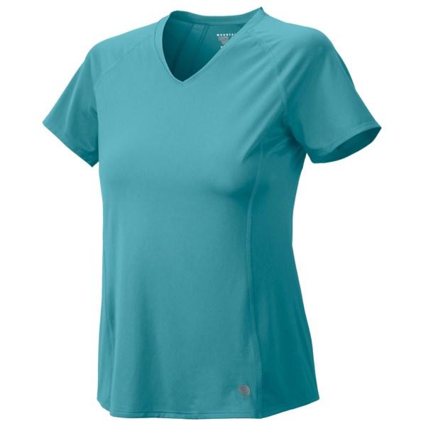 Mountain Hardwear Tephra Trek T Shirt   UPF 50  Short Sleeve (For Women)   WINK (S )