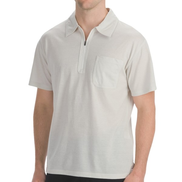 CLOSEOUTS . Look sharp and stay cool in Mountain Khakis' Approach polo, made from a light and airy jersey with a fine horizontal pinstripe. Perfect for beachcombing (UPF 50 ) or hanging out on the back porch with your favorite beverage. Available Colors: BLUE WORK, BRICK RED, STONE. Sizes: S, M, L, XL, 2XL.