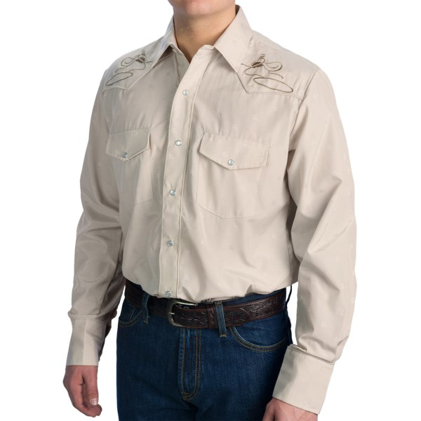 Roper Embroidered Yoke Western Shirt - Snap Front, Long Sleeve (For Men)