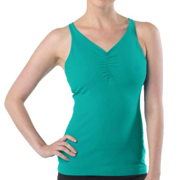 CLOSEOUTS . Running, yoga, hiking -- you name it and prAna's Sabin tank top can handle it. The quick-drying, moisture-wicking Chakara performance fabric, internal shelf bra and racerback style make great companions to any warm-weather, high-energy activity. Available Colors: CORAL, DEEP BLUE, LAVENDER, WHITE, PUMPKIN, WINTER, CAPRI BLUE, DARK EGGPLANT, FIRE RED, SAIL BLUE, BLACK, CHARCOAL HEATHER, DRAGONFLY, PINKBERRY. Sizes: XS, S, M, L, XL.