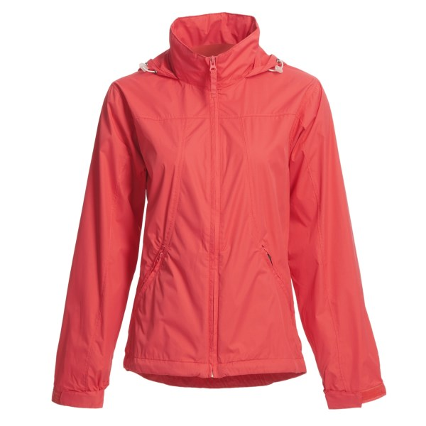 White Sierra Paradise Cove Wind Jacket (For Plus Size Women)