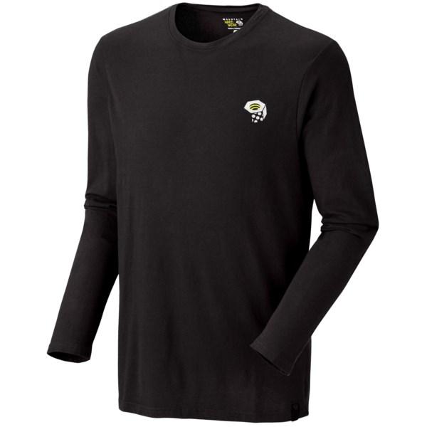 Mountain Hardwear MHW Logo T Shirt   Long Sleeve (For Men)   BLACK (L )