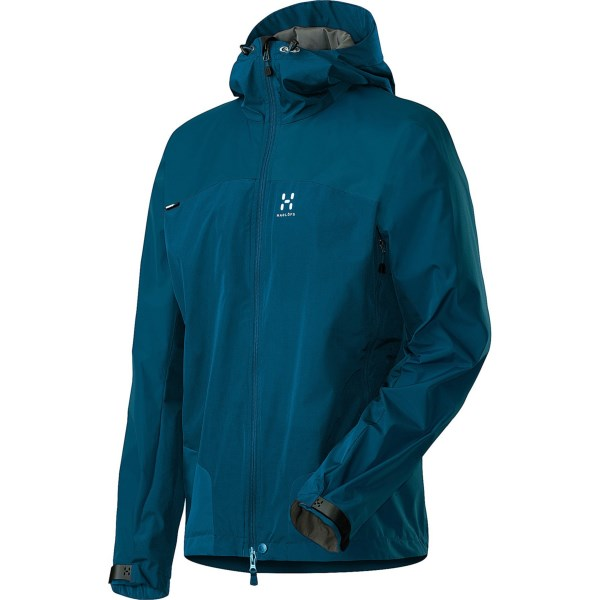 CLOSEOUTS . Block wind and light weather with Haglofs' Swift II Q jacket thanks to its Gore Windstopperand#174; Active Shell and DWR finish. Available Colors: VERDIGRIS/OXIDE GREEN, BASIL GREEN, FIRE, BRONZEGREEN, BLUE SHADOW, VERDIGRIS, STRATO BLUE. Sizes: L, XL, 2XL, M.