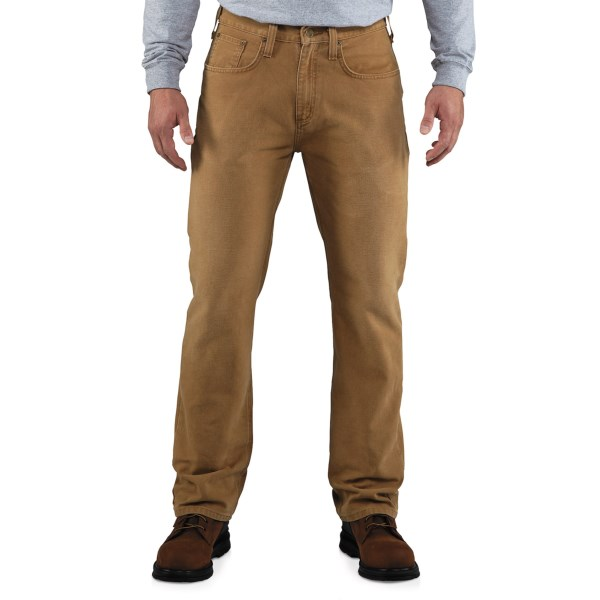 2NDS . The project is green-lighted, and you've got on Carhartt's weathered duck 5-pocket pants -- ready to be outfitted with multiple tools and to take on the toughest jobs. 12 oz. cotton duck stands up to daily wear on and off the jobsite. Available Colors: CARHARTT BROWN, DARK COFFEE.