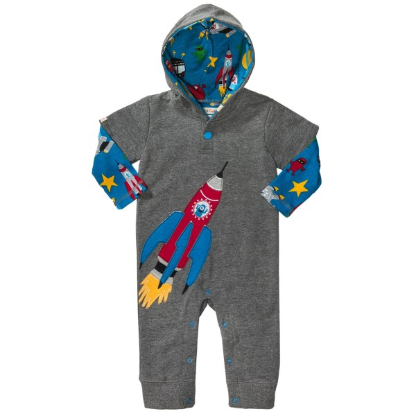 Hatley Printed Hooded Romper - Cotton  Long Sleeve (for Infants)