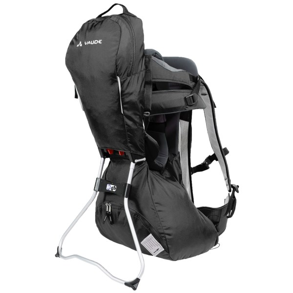 CLOSEOUTS . Thanks to the light weight of Vaude's Wallaby child carrier, you won't get totally bogged down on hikes as your little adventurer grows. Plus, a spacious zip pocket and easily adjustable suspension system make family hikes more comfortable and convenient. Available Colors: PEBBLES, BLACK, RED.