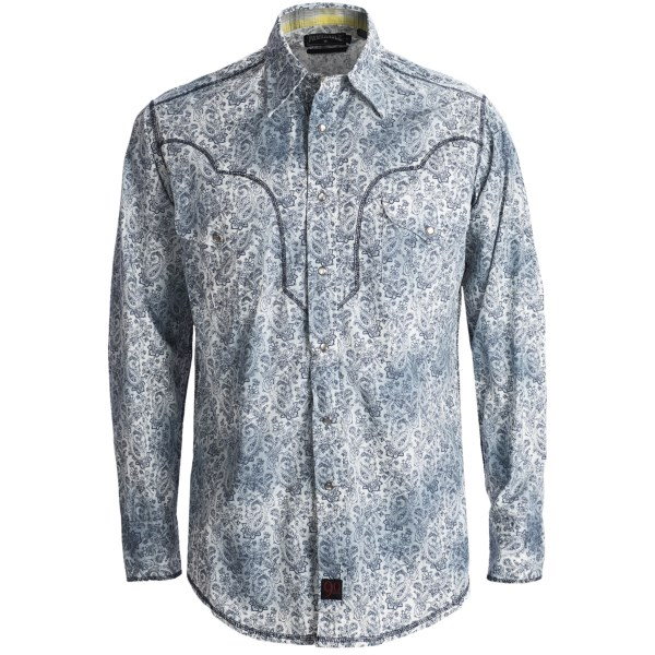 Panhandle Slim 90 Proof Distressed Wash Paisley Print Western Shirt - Snap Front, Long Sleeve (For Men)