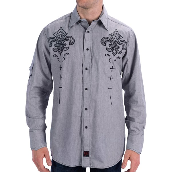Panhandle Slim 90 Proof Western Shirt - Micro-Stripe, Snap Front, Long Sleeve (For Men)