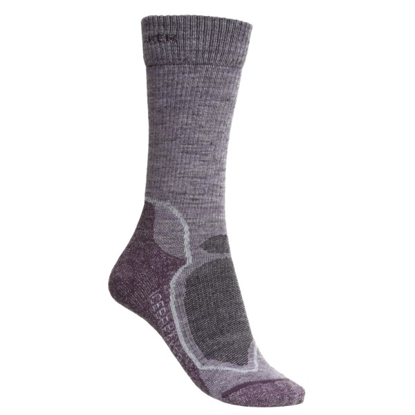 Discontinued . Icebreaker's Hike  lite socks feature moisture-wicking, itch-free merino wool construction and ventilated breathe zones for serious all-day, hiking comfort. Available Colors: SILK/SILVER/VINTAGE, METRO/BLACK/OIL, BLIZZARD/WHITE/OIL, GULF/ADMIRAL/WHITE, CHERUB/SILVER/BORDEAUX, BLIZZARD/HORIZON/SILVER, BLIZZARD HEATHER/TEARDROP/CRUISE. Sizes: S, M, L.
