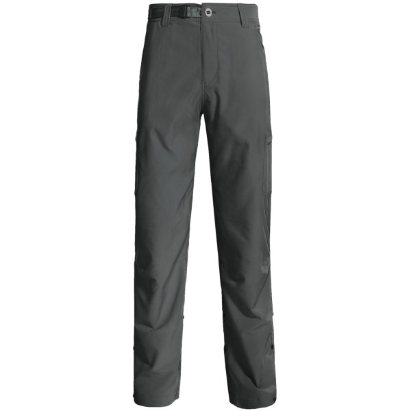 CLOSEOUTS . Sage's Transfer pants are made from a quick-drying nylon blend and feature roll-up snaps so next time you have to  get in the water to land a whopper you'll be prepared. Available Colors: DARK CHARCOAL, KHAKI. Sizes: S, M, L, XL, 2XL.
