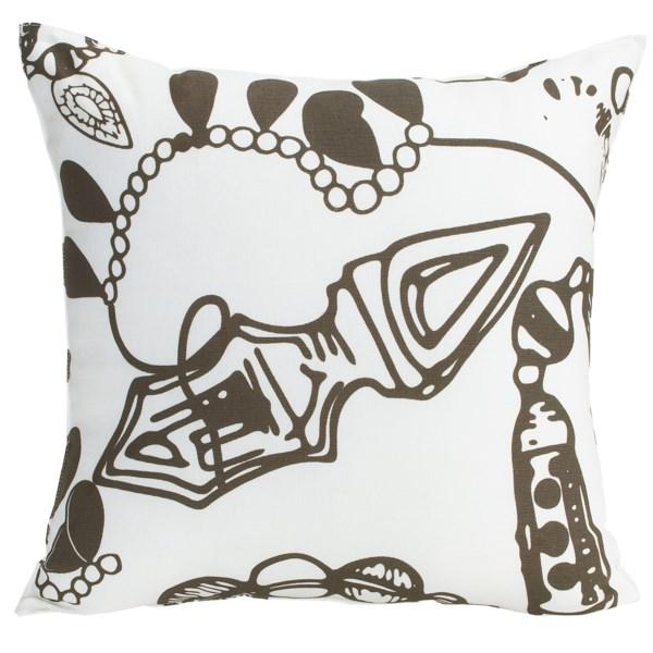 christen maxwell new york designer throw pillow - 18?, linen