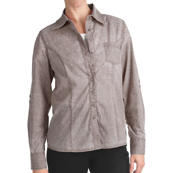 FDJ French Dressing Pigment-Dyed Woven Shirt - Long Roll-Up Sleeve (For Women)