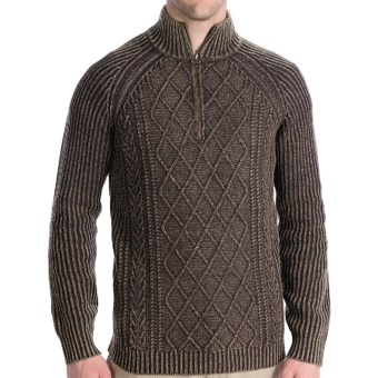 Lux-ID 191293  Woolrich Edgewood Sweater - Lambswool, Zip Neck, Long Sleeve (For Men)