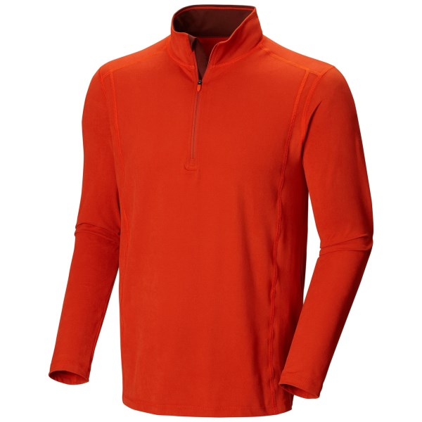 CLOSEOUTS . The only thing buttery about Mountain Hardwear's Butterman shirt is its ultrasoft hand. Everything else is chiseled-chinned and multi-sport ready. Perfect for mild temperatures, this layer lends generous stretch and strong moisture control. Available Colors: SHARK, ROYAL, TITANIUM, STRING, CANTEEN, PINE TREE, JESTER RED, COUSTEAU, REDWOOD, STATE ORANGE, BLACK, GRAPHITE, STONE GREEN, FUSE GREEN, RUSSET ORANGE, BLACK/SHARK, COLLEGIATE NAVY, SHARK/ORANGE, GREENSCAPE. Sizes: S, M, L, XL, 2XL.