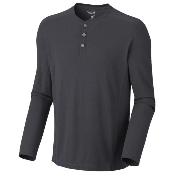 Mountain Hardwear Trekkin Thermal Henley Shirt   UPF 15  Long Sleeve (For Men)   471 COLLEGIATE NAVY (XL )