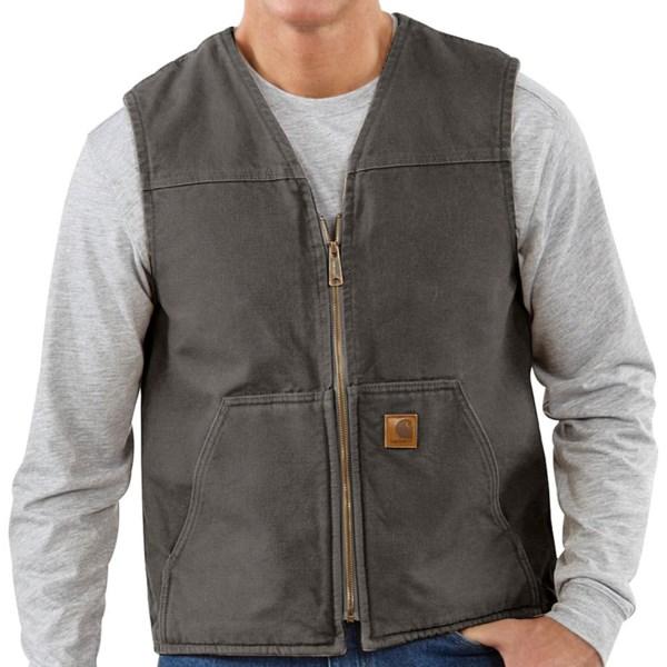 Carhartt Sandstone Vest - Sherpa-Lined (For Tall Men)